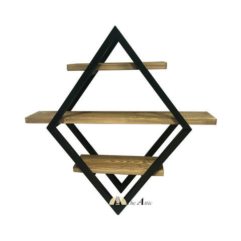 Dallas Industrial Wall Shelf / Industrial 3-Tier Wall Shelf / Wall Planter/ Hanging Shelf - The Attic Dubai