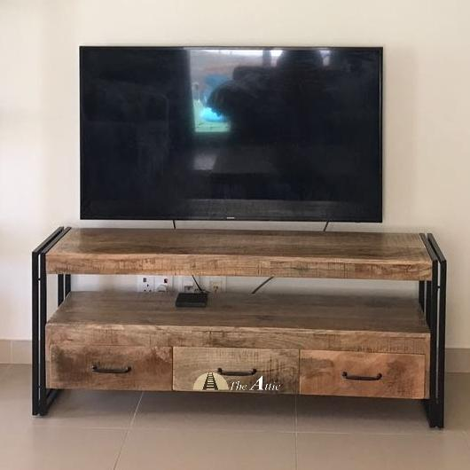 Industrial 3-drawer Media Unit
