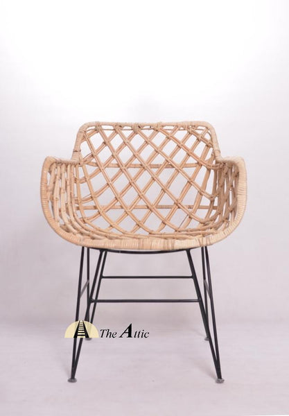 Zanzibar Rattan Lounge Chair; Natural Rattan Wicker Furniture, theattic-dubai.com