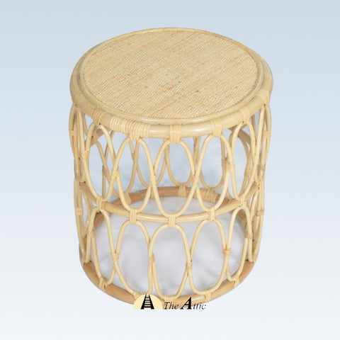 Zola Rattan Round Side Table