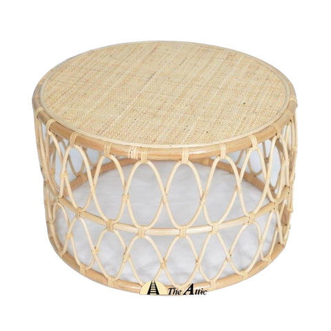 Zola Rattan Round Coffee Table - The Attic Dubai