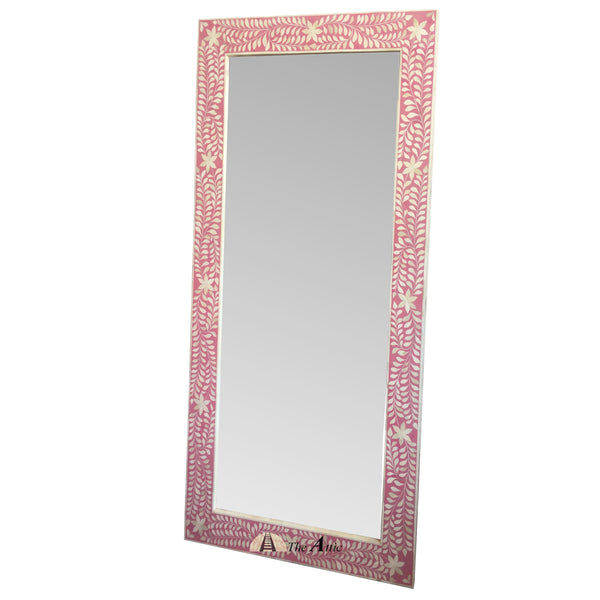 Pink Bone Inlay Large Mirror