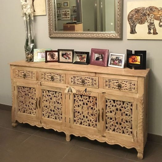 4-Door 4-Drawer Buffet with Sandblasted Finish