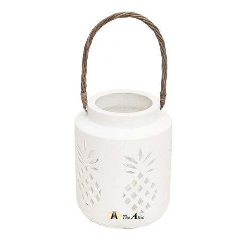 White Pineapple Patio Lantern - The Attic Dubai
