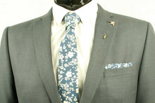Blue and White Floral Tie