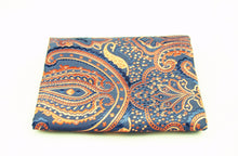 Blue and Gold Pocket Square