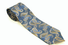 Blue and Gold Paisley Tie