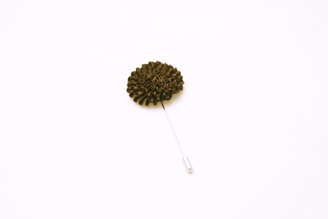 Brown Flower Lapel Pin