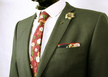 The Blue Floral Pocket Square