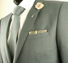 Brown and Gold Pocket Square