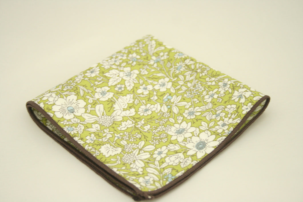 The Green Floral Pocket Square