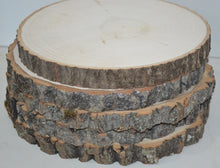 "Aspen Wood Slices 10 1/2"" to 12"" diameter x 1"" thick Package of 10. Wholesale"