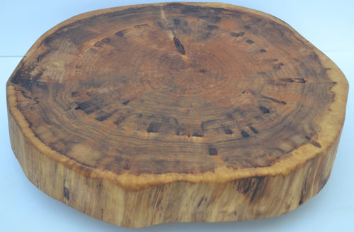 Lazy Susan Hand Crafted with Log Slices No Bark
