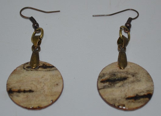 Birch Bark Earrings-Round