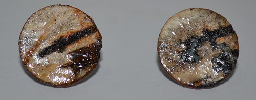 Birch Bark Stud Earrings-Small