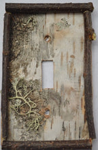 Birch Bark Switch Plate, Receptacle and Rocker Plate with Sticks