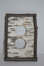 Birch Bark Switch Plate, Receptacle and Rocker Plate Covers