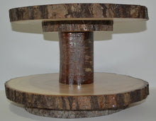 "Lazy Susan Double Tier Log Slices 11"" to 15 1/2"" Diameter"