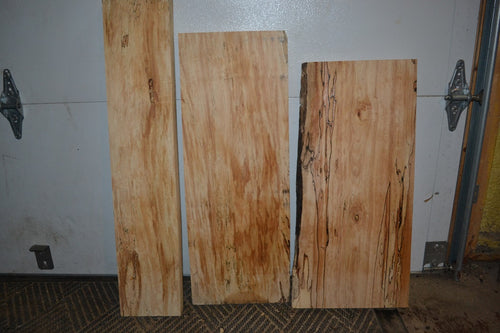 Spalted Maple Planks 3 Piece Set SM-106  (SOLD)