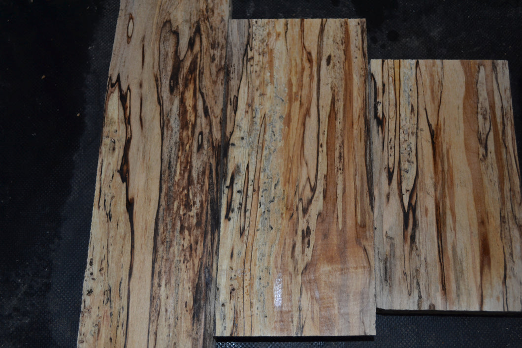 Ambrosia Spalted Maple Craft Wood 3 Piece Set (SMC-101) SOLD