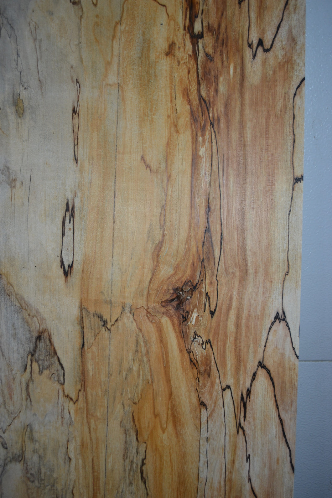 Ambrosia Spalted Maple Live Edge Slab (SMLE-12) (SOLD)