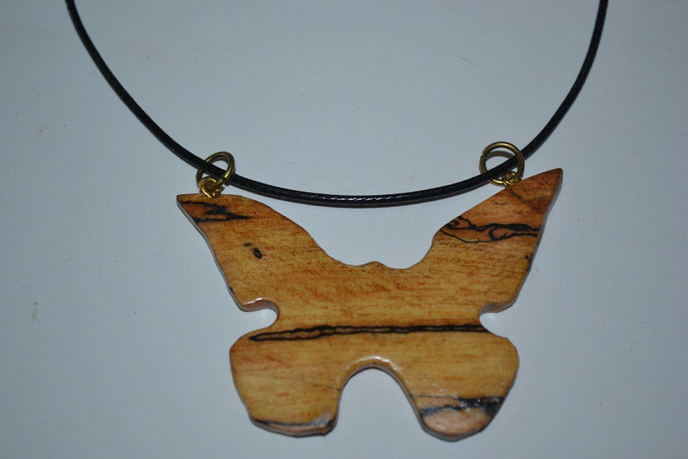 Spalted Maple Butterfly Necklace
