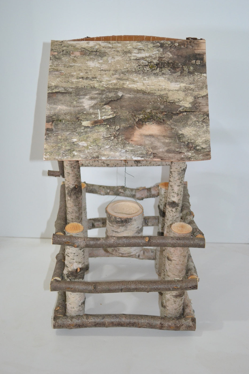 Birch Log Wishing Well
