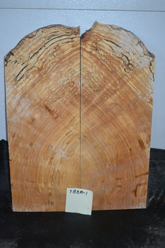 Yellow Birch Spalted Burl Thin Bookmatch Set  YBBM-1