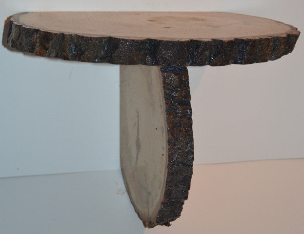 Aspen Log Tree Slice Shelf