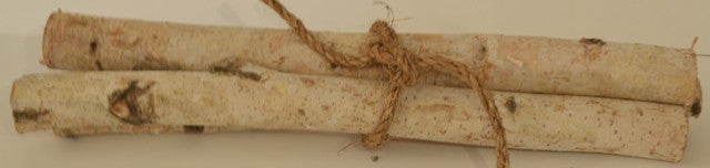 Birch Fire Place Logs small Roped Bundle