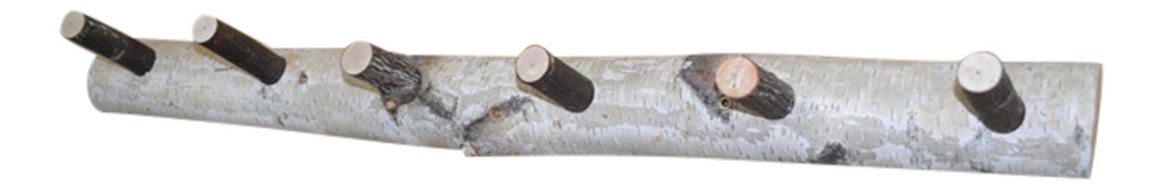 Birch Log Coat Rack