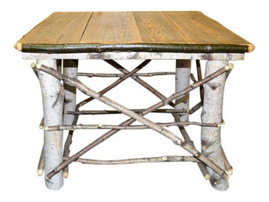 Birch Log End Table Large