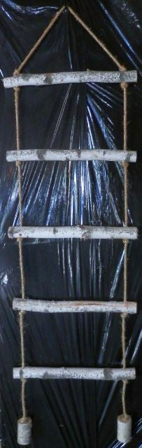 Birch Log Rope Ladders<p>Rustic decor-5ft