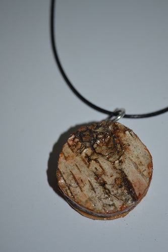 Birch Bark Necklace- Round
