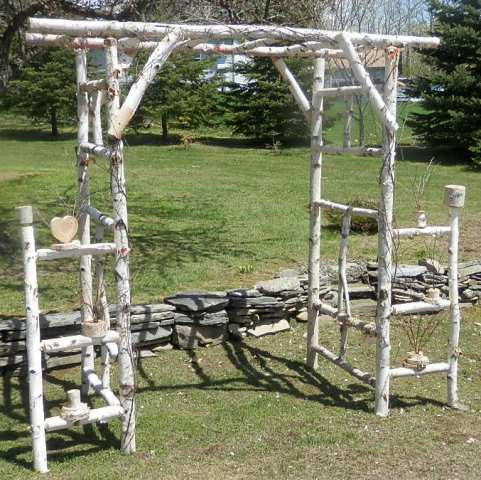 Chuppah- Wedding Log Arch- Birch Log Kit- Ready to Assemble-Basic