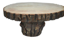 Log Slice Tree Round Cake Stand with Bark