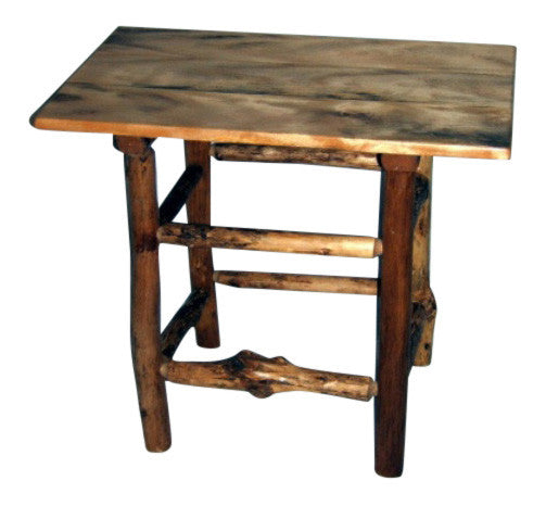 Rustic Maple Log End Table