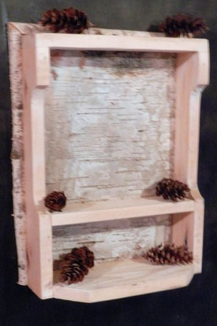 Rustic Birch Bark Shelf | Spirit Of The Woods | Rustic Furniture U0026 Decor