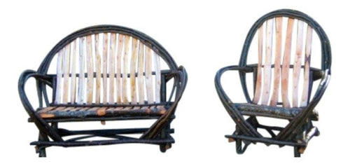 Rustic Log & Twig Arm Chair & Settee