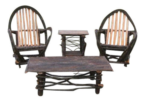 Rustic Twig Arm Chairs & end table & Coffee Table