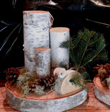 Thanksgiving Birch Log Turkey  TeaLight CenterPiece