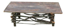 Rustic Log & Twig Coffee Table