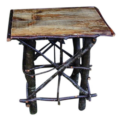 Rustic Log & Twig End Table