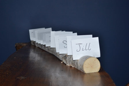 Birch Log Multiple Name Card Holder