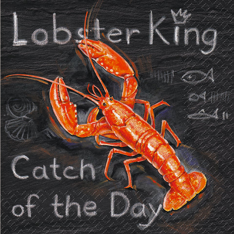 Lautasliina Lobster King FSC 3kpl