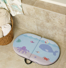 "BLUE WHALE BABY BATH KNEELER - PAD Cushions & Supports Knees for Longer Tub Time, 22"" Extra-Wide 1.5"" Thick & Cushy Foam, Non-Slip Safety Backing, Easy to Clean Removable Cover"