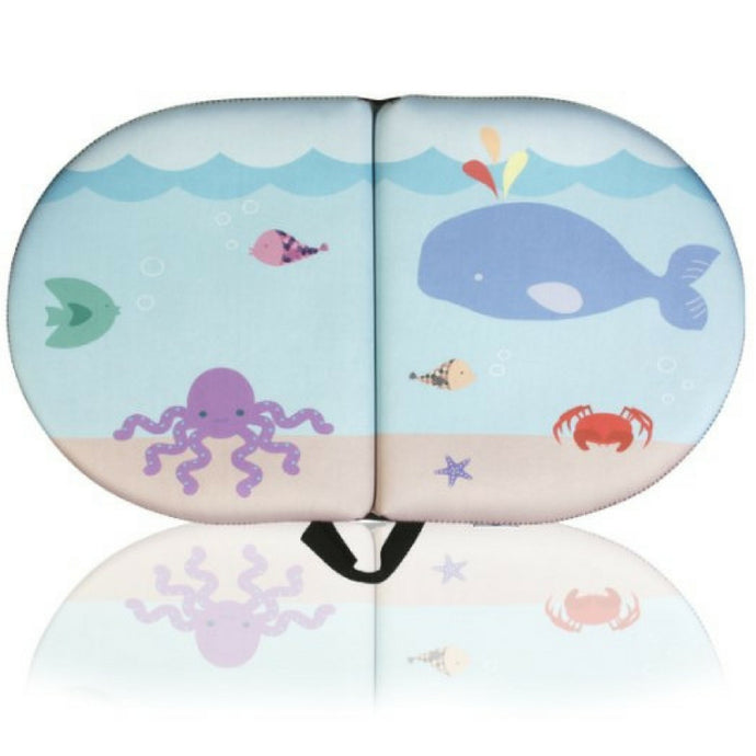 BLUE WHALE BABY BATH KNEELER - PAD Cushions & Supports Knees for Longer Tub Time, 22