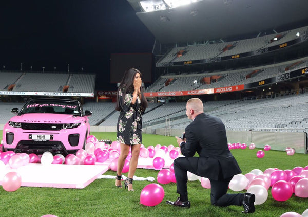 Josef Rakich, New Zealand's fitness Guru goes the extra mile to propose to his girlfriend