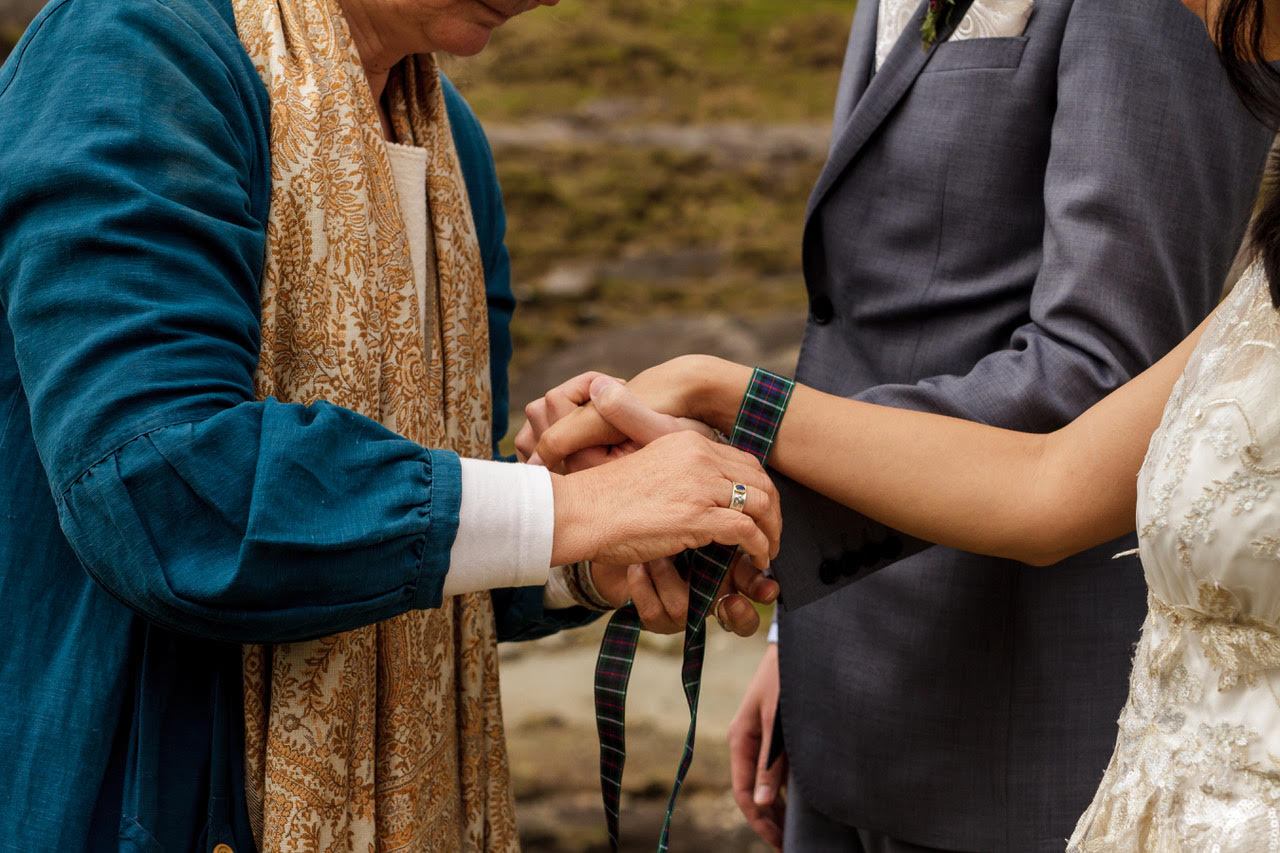 "Hand fasting ceremonies on ""Cloud island"" captured by Lynne Kennedy"