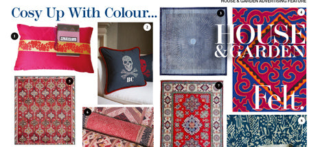 Cosy up with colour - House & Garden My Billet Doux Silk Cushion
